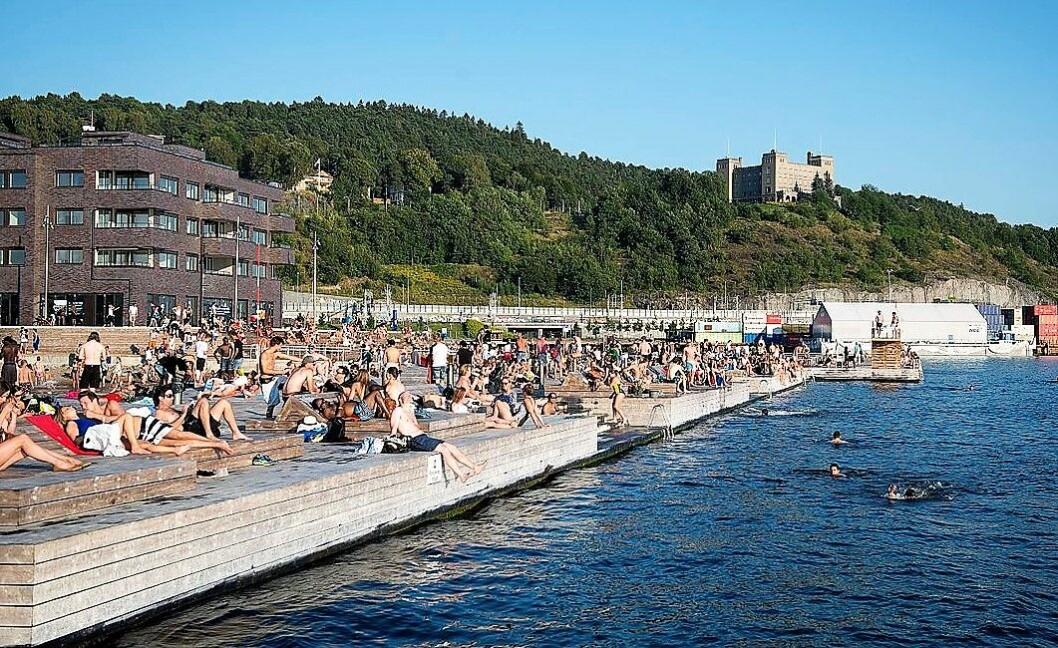 Bymiljøetaten frykter E.coli-smitte og fraråder bading i indre Oslofjord fram til i morgen. Foto: Katrine Lunke / Wikimedia Commons