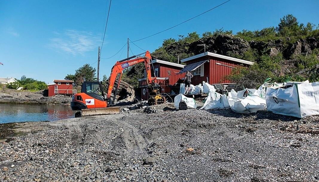 Hytta som var ulovlig oppsatt på Rambergholmen ble fjernet av Oslo kommune i fjor.