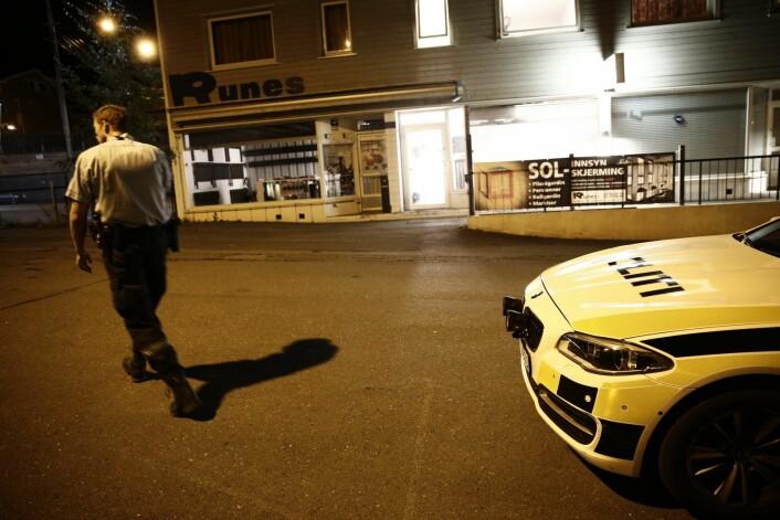 Natt til 19. august i fjor rykket politiet ut til Kapellveien etter melding om at en kvinne var blitt knivstukket. Foto: Stian Lysberg Solum / NTB scanpix