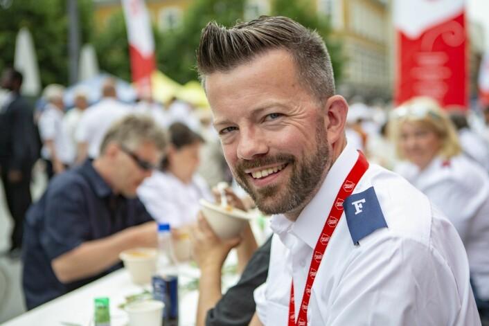 � Vi ønsker å tilby suppe, såpe og frelse til folk i byen, sier kommunikasjonssjef Geir Smith-Solevåg i Frelsesarmeen på Youngstorget i Oslo. Foto: Paul Kleiven / NTB scanpix