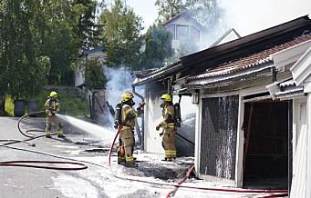 Tre garasjebranner i Oslo på to dager. Politiet ser brannene i sammenheng