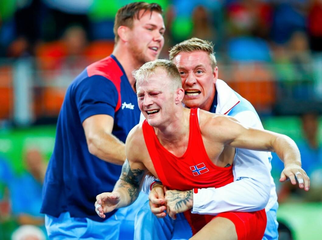 Norges beste bryter, Stig André Berge, tok OL-gull i Rio de Janeiro i 2016. Nå kan han få muligheten til å ta VM-gull på hjemmebane i Oslo i 2021. Foto: Heiko Junge / NTB scanpix
