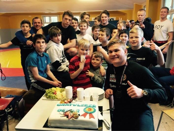 Oskar Marvik (nederst til høyre) er en av medaljekandidatene under VM på hjemmebane i 2021. Foto: Sportsklubben 09