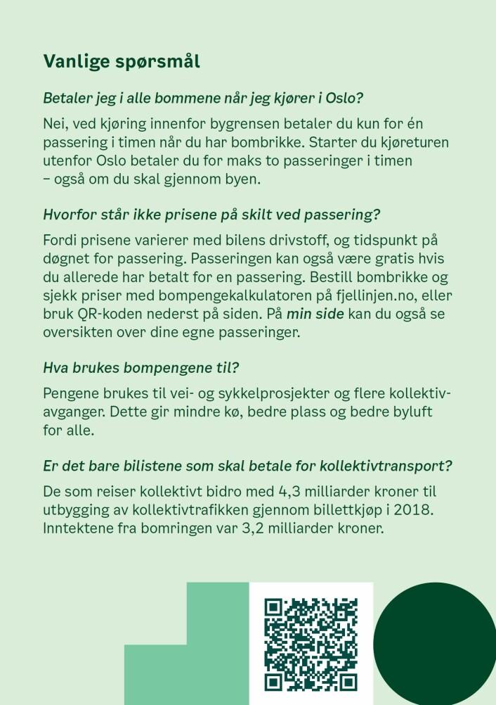 Oslo kommune ha betalt litt over 600.000 kroner for å få ut brosjyren til samtlige husstander i byen via posten. Illustrasjon: Oslo kommune