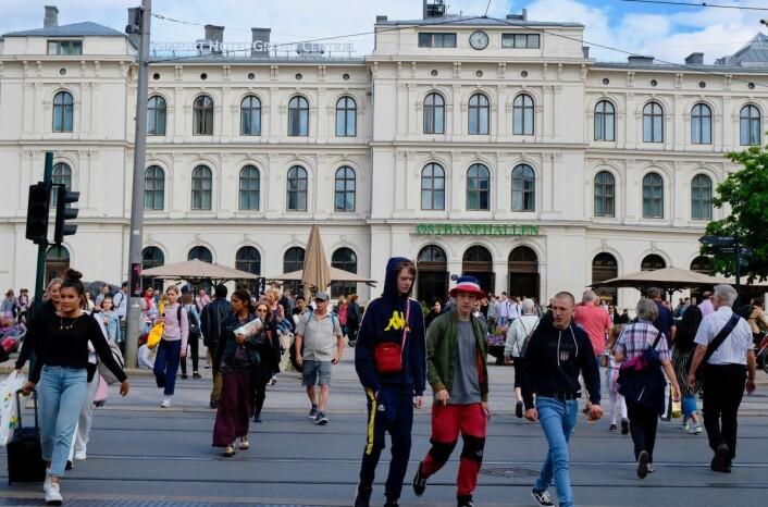 Oslo sentrum oppleves som uforutsigbart og usikkert, ifølge Fanny Viks informanter. Foto: Emilie Pascale