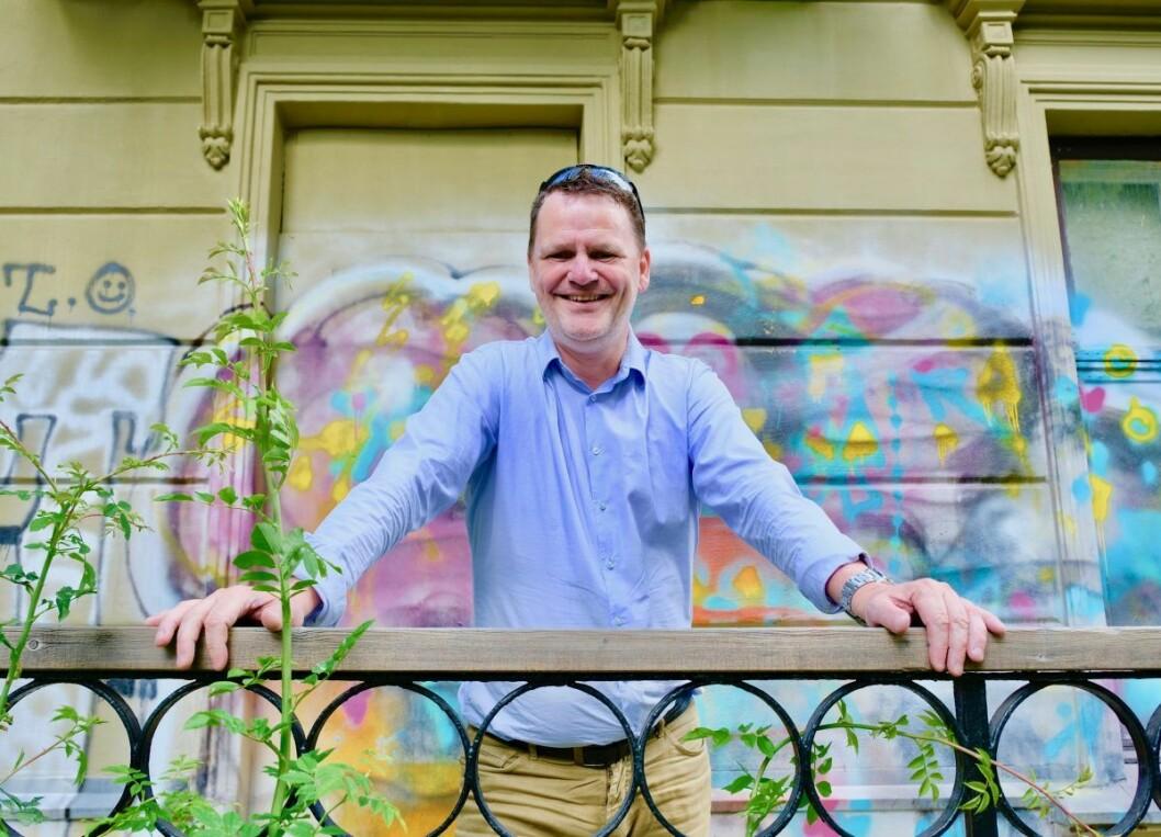 — Ungdommene ser jo ikke bydelsgrensa, så for dem er det mye viktigere å få på plass et nytt ungdomshus, sier BU-leder Jens Jørgen Lie i bydel Frogner. Foto: Emile Pascale