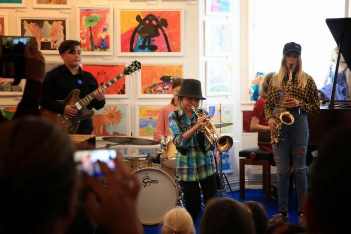 Konsertene spilles blant annet her, på Barnekunstmuseet på Frøen i bydel Vestre Aker. Foto: Kids in Jazz