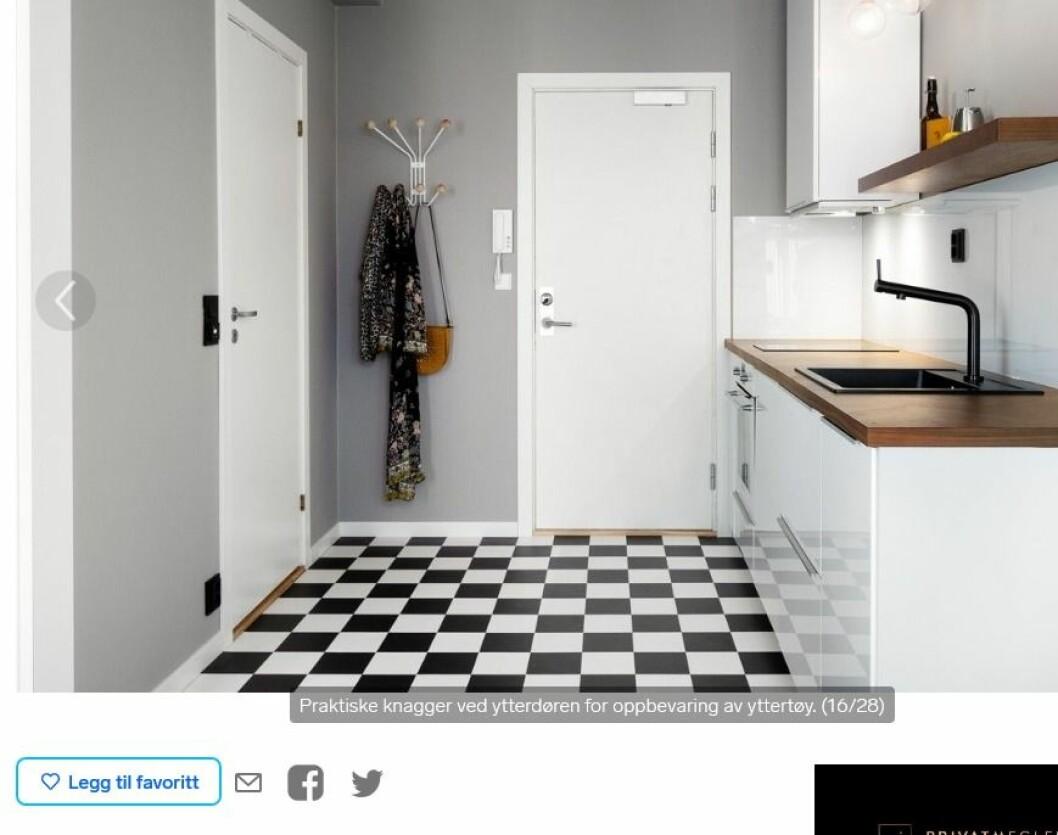 — Det er høy interesse for små leiligheter i byen, sier eiendomsmegler Haakon Telle Bøe. Skjermdump fra Finn.no