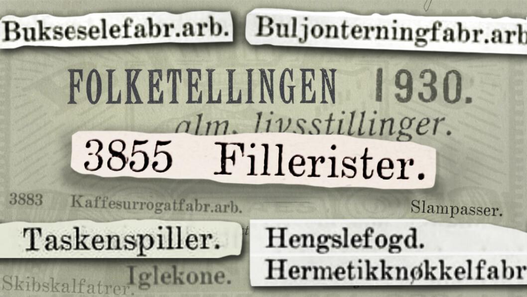 Folketellingen i 1930 var en omfattende affære. Selv de kongelige måtte innlemmes. Illustrasjon: Håvard Mossige
