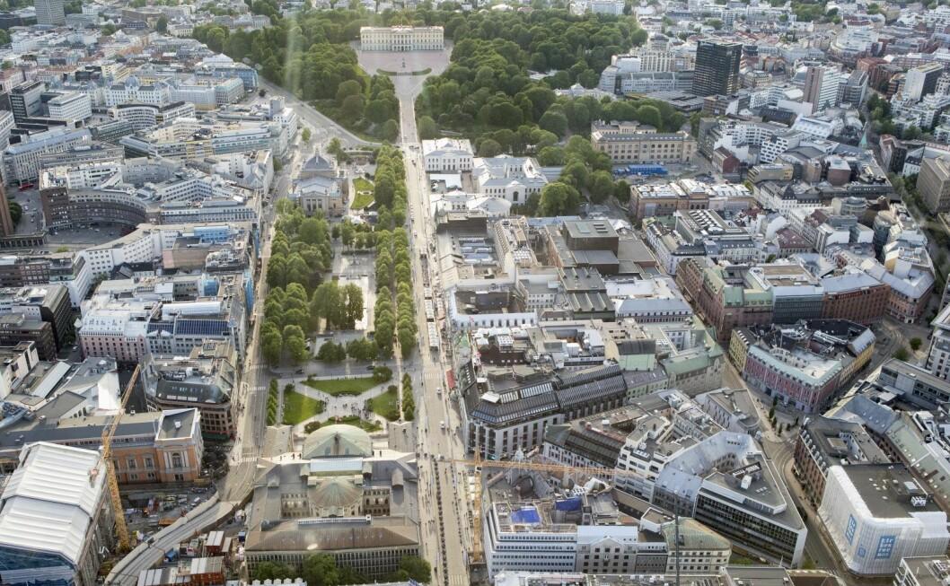 � Til nå har nærmere 800 parkeringsplasser på gategrunn blitt fjernet i sentrum, og ytterligere 250 regulerte plasser vil fjernes som følge av områdereguleringen, sier Camilla Wilhelmsen (Frp). Foto: Torstein Bøe / NTB scanpix