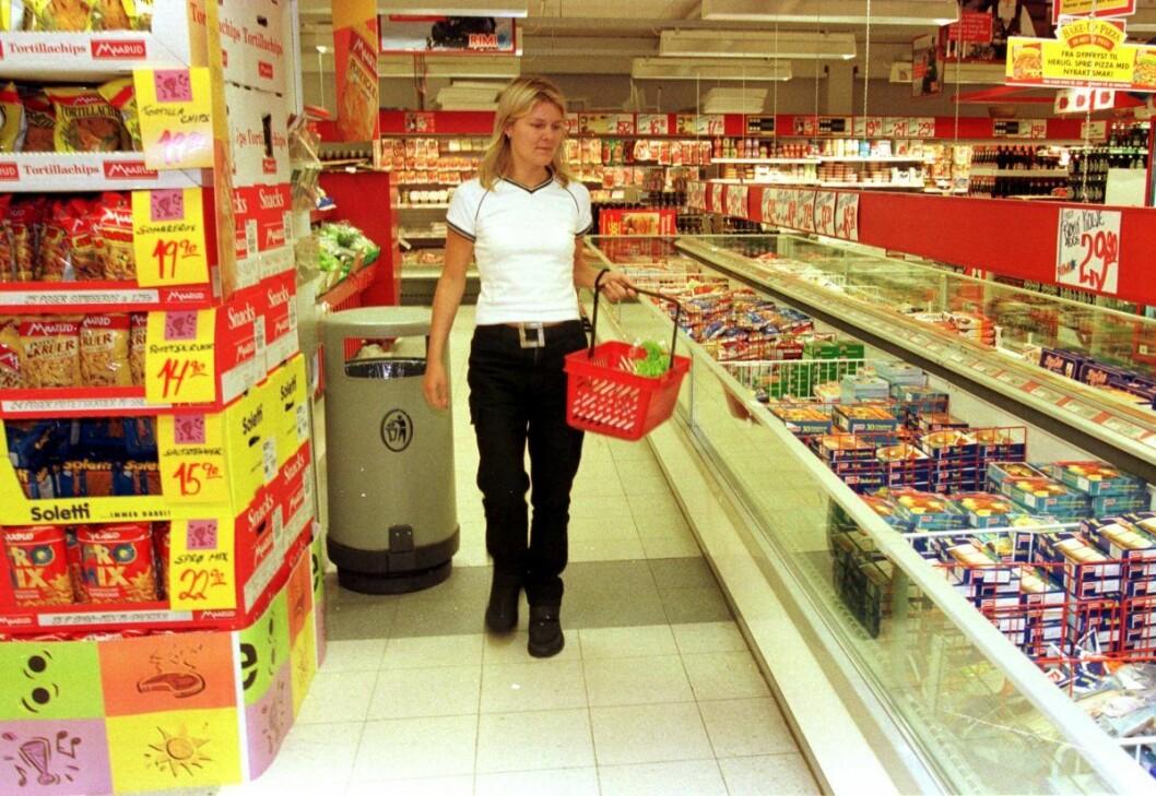 I snitt har norske butikker kun 61 prosent av utvalget av en svensk butikk, ifølge en ny SIFO-rapport skrevet på oppdrag for Nærings- og fiskeridepartementet. Illustrasjonsfoto fra en Rimi-butikk. Scan-foto: Anders Knudsen