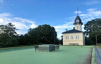 Bassenget på St. Hanshaugen er tørrlagt på grunn av en engangsgrill