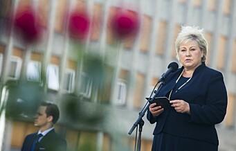 Solberg ønsker å beholde 22. juli-senteret i regjeringskvartalet, men advarer om utfordringer