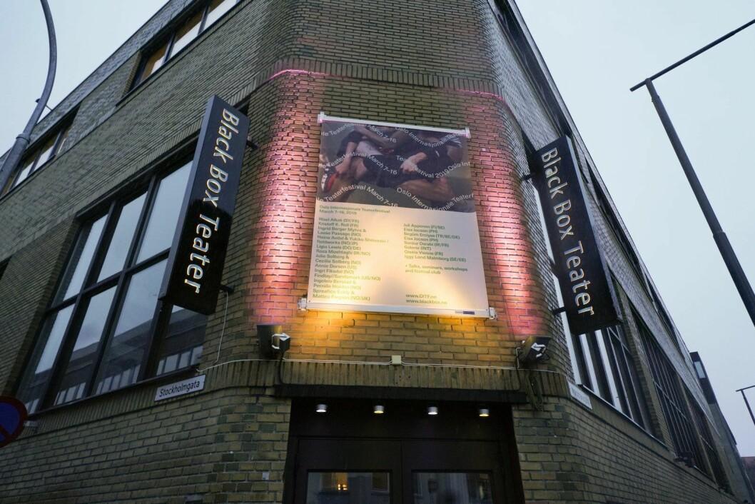 Forestillingen Way of Seeing ved Black Box på Rodeløkka fikk vind i seilene da daværende justisminister Tor Mikkel Aaras samboer gikk til politianmeldelse av det lille teateret.  Foto: Fredrik Hagen / NTB scanpix