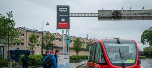 Førerløs buss i Wien, tilsvarende de to på Akershusstranda, kjørte på fotgjenger