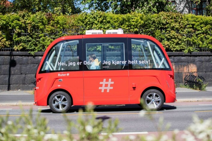 � Ruter mener at selvkjørende kjøretøy vil være en viktig del av kollektivtransporten i framtiden, uttalte selskapet da de to bussene ble satt i drift i vår. Foto: Ruter