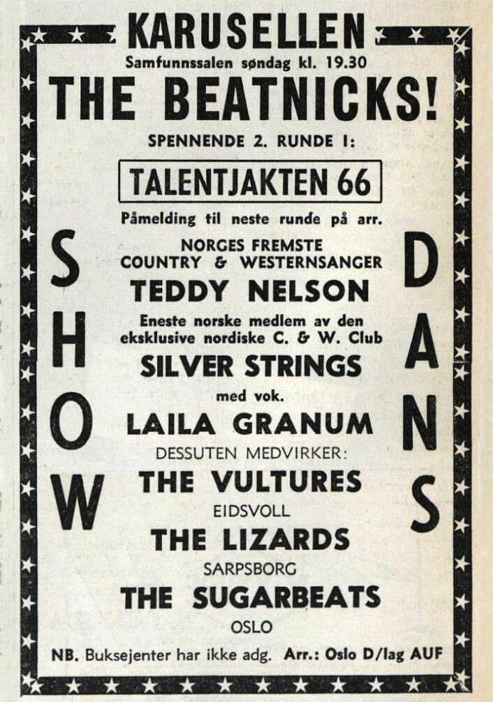 """""""Buksejenter har ikke adg."""" Arbeiderbladet, 26. mars 1966"""