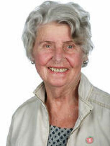 Anne Titt Lindvig (89) er fornøyd med at såpass mange unge engasjerer seg politisk. Foto: Fremskrittspartiet