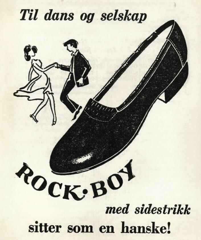 Rockesko. Arbeiderbladet, 1958