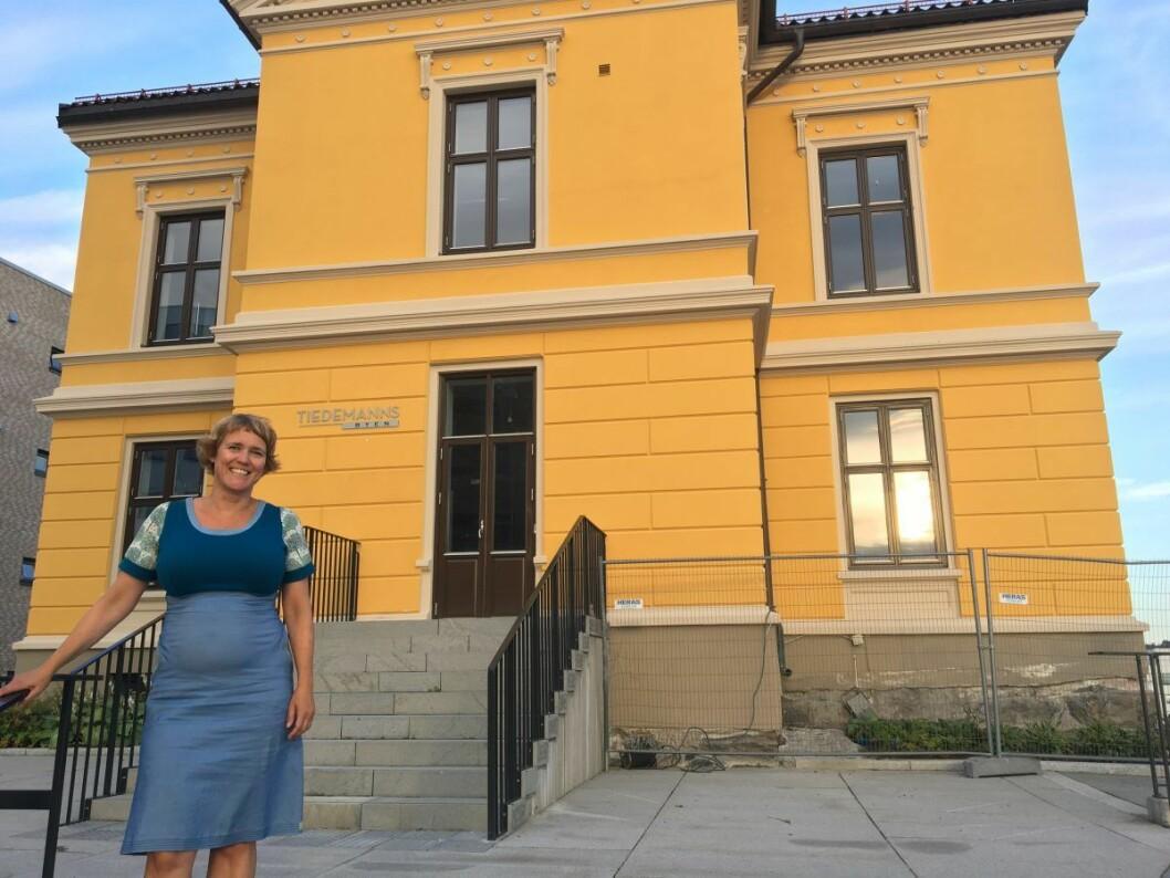 Leder av foreldrenes arbeidsutvalg på Hasle skole, Pia Bodahl, har engasjert seg for fremtiden til Petersborghuset. Foto: Vegard Velle