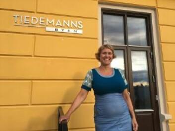 Pia Bodahl har sørget for at barna ikke blir glemt bort i den nye bydelen. Foto: Vegard Velle