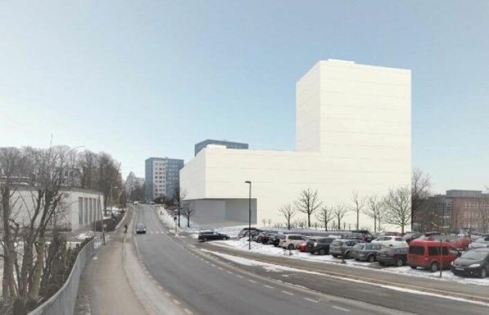 Planene for et nytt studentbygg i Blindernveien 6 har pågått svært lenge. Illustrasjon: Dyrvik arkitekter/Rodeo arkitekter