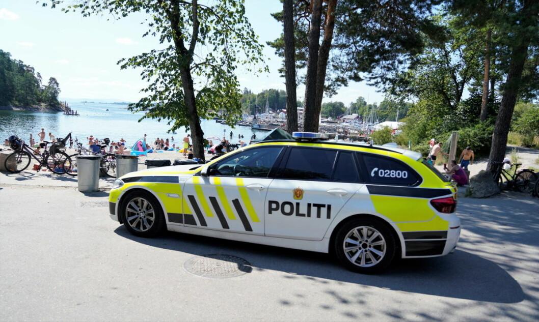 Politiet betegner dødsfallet til kvinnen som ble funnet død i sjøen ved Bygdøy sjøbad lørdag ettermiddag som unaturlig. Foto: Fredrik Hagen / NTB scanpix
