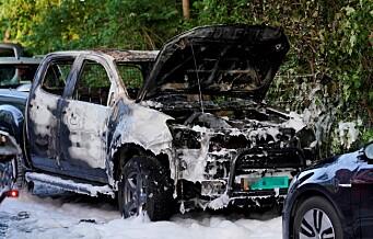 Fem biler har brent i byen det siste døgnet