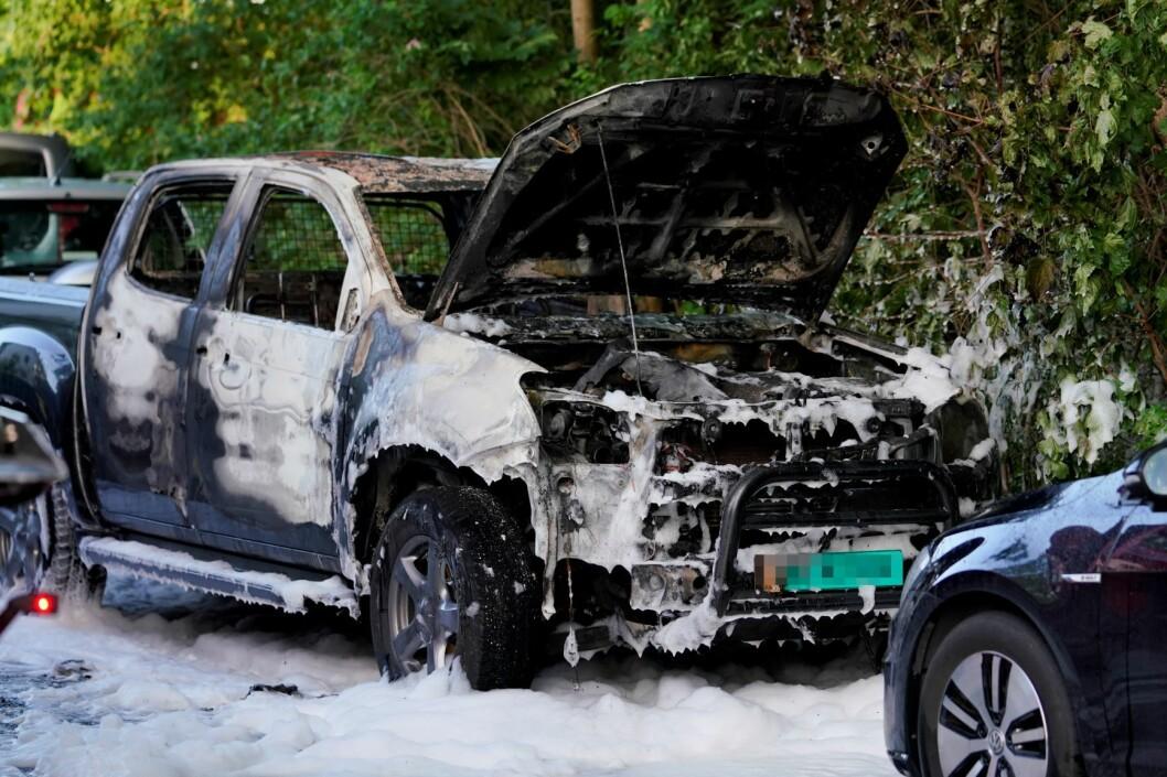 Så mange som fem biler er påtent i Oslo siste døgn. Men politiet har ikke funnet noen skyldige. Illustrasjonsfoto: Fredrik Hagen / NTB scanpix
