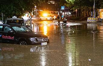 Skader for flere millioner kroner etter helgens ekstremregn i Oslo