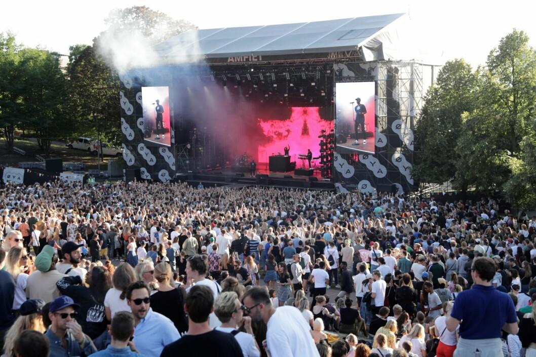 Her er en oversikt over bandene du bør få med deg under Øya-festivalen i Tøyenparken. Foto: Øyafestivalen i Tøyenparken. Foto: Berit Roald / NTB scanpix