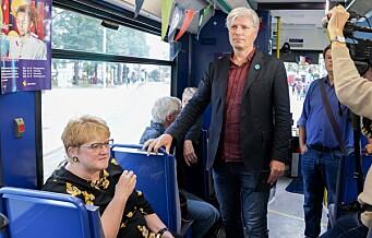 Venstre åpnet valgkamp med trikketur fra Grünerløkka til Majorstua. Krever billigere månedskort