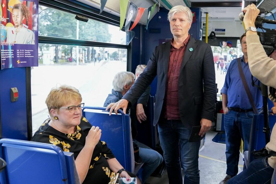 Venstres partileder Trine Skei Grande og Ola Elvestuen har begge lang fartstid i Oslo-politikken fra før de ble rikspolitikere. Foto: Fredrik Hagen / NTB scanpix