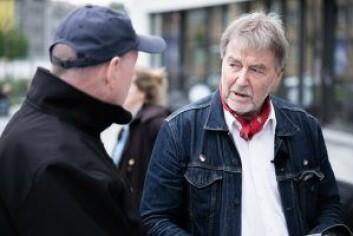 Ove Bengt Berg har fått nok av manglende grøntområder. Foto: Bjørnar Morønning