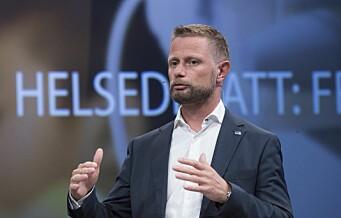 Helseminister Høie advarer Oslos politikere mot å stikke kjepper i hjulene for Gaustad-planene