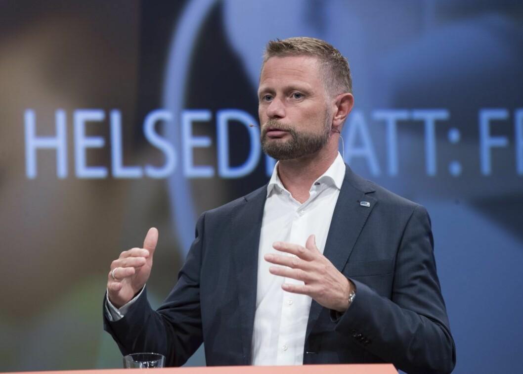 � Hvis dagens mindretall i Oslo skulle fått flertall for å stikke kjepper i hjulene for bygging av nye sykehus i Oslo, er det deres egne innbyggere som vil bli rammet, mener helseminister Bent Høie (H). Foto: Terje Pedersen / NTB scanpix