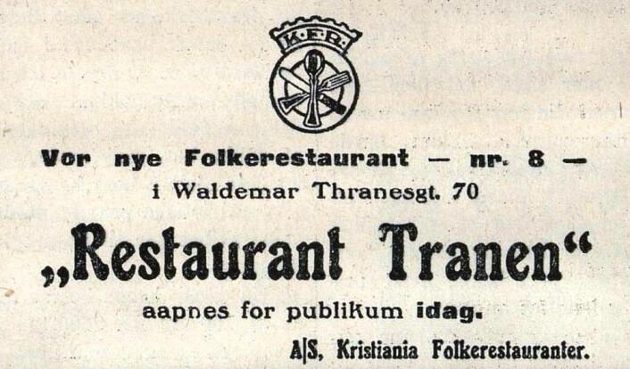 Tranen åpner kranen. Morgenbladet, 1921