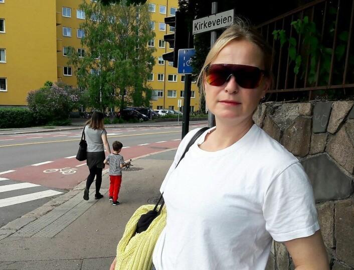Synne Skjulstad fikk nok av å se skolebarna gå over det farlige krysset mellom Kirkeveien og Ullevålsveien. Foto: Anders Høilund