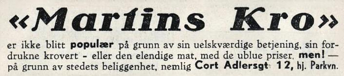 Ærlig markedsføring. Arbeiderbladet, 1938