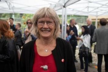 – Jeg er ikke lettrørt, men å møte disse modige folkene gjorde inntrykk på meg, sa Karin Andersen (SV). Foto: Olav Helland