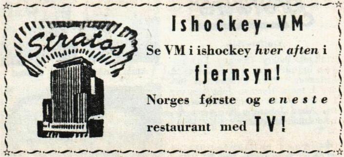 Stratos åpnet i 1935, opprinnelig som avholdskafe. Vet noen av leserne når de begynte med ølservering? Arbeiderbladet, 1958