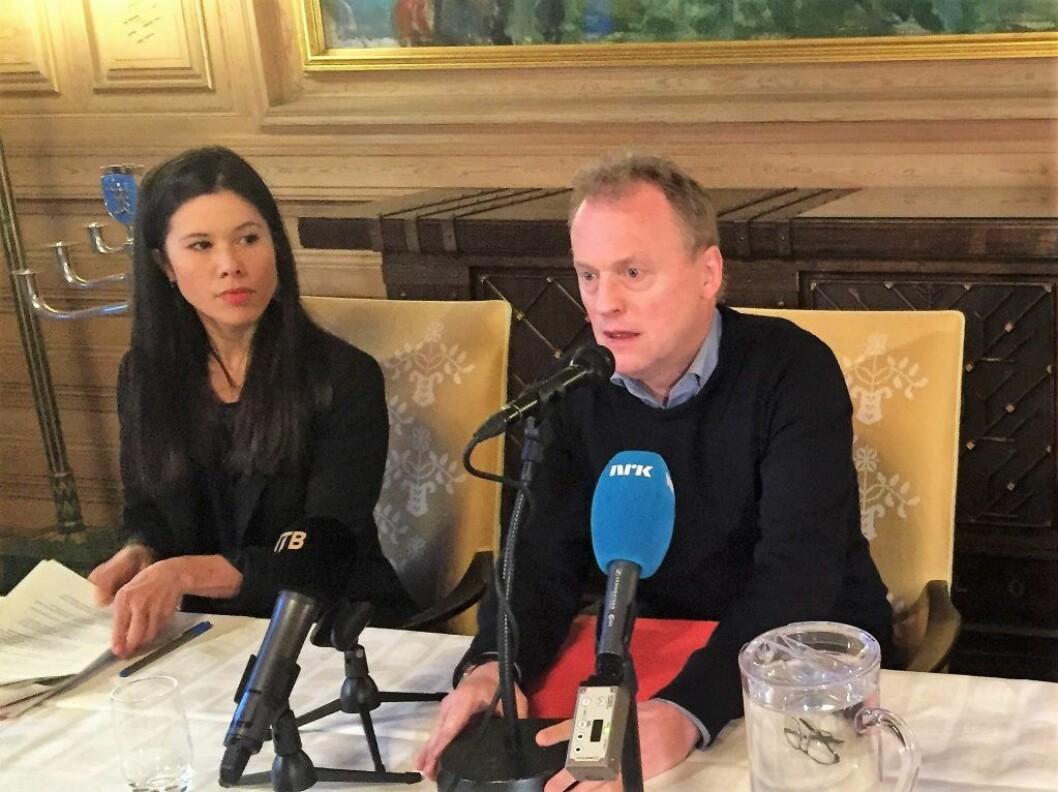 Lan Marie Bergs utspill om at det skal bli dyrere gjennom Oslos bomringer skaper hodebry for Raymond Johansen og Ap i valgkampen. Det er nå splid mellom de to byrådspartiene MDG og Ap. Foto: Vegard Velle
