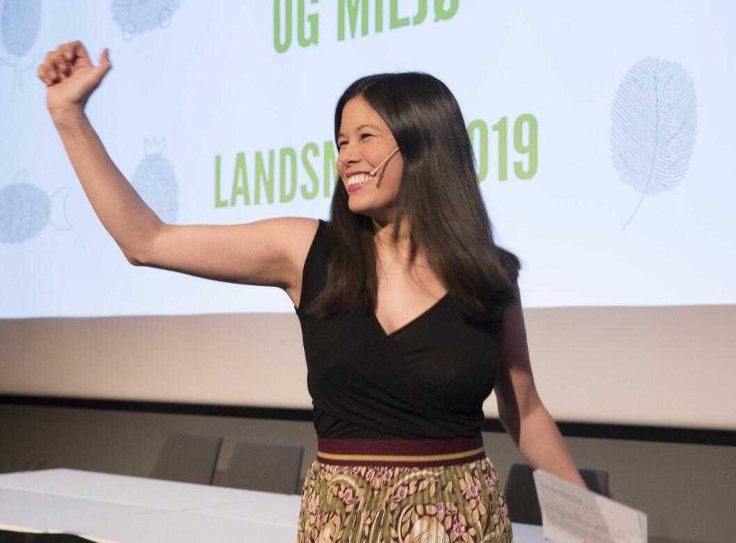 � I dag har vi en klima- og naturkrise i verden, ikke «bompengekrise», sier MDGs toppkandidat i Oslo, Lan Marie Berg. Foto: Terje Bendiksby / NTB scanpix