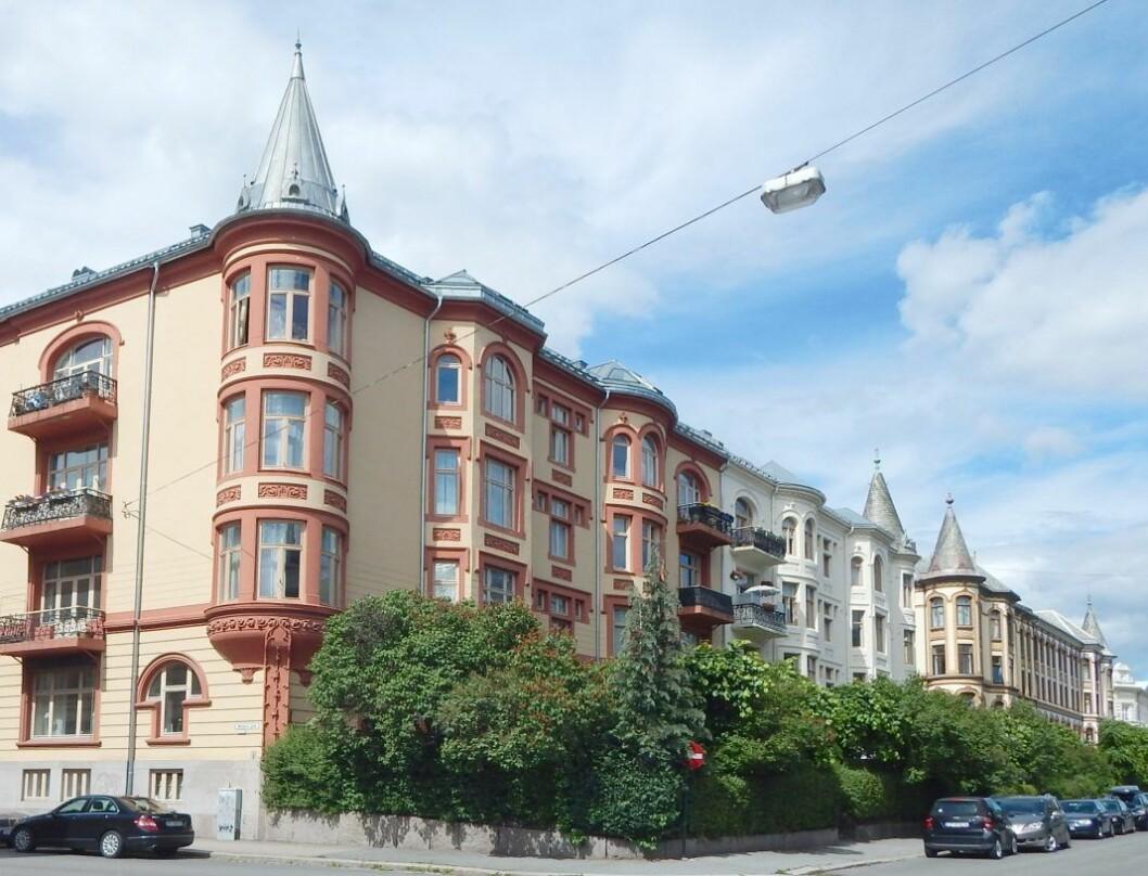 Et av byens mest attraktive boligstrøk med høye priser: Oscars gate på Frogner. Foto: Jan-Tore Egge / Wikimedia Commons