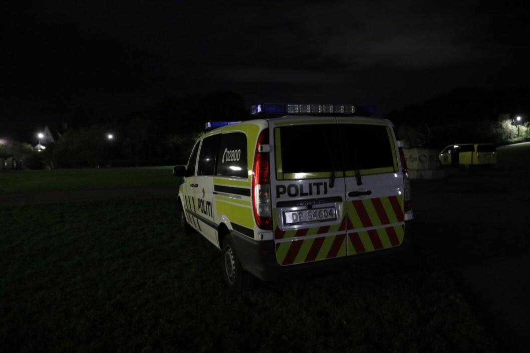 Politiet rykket ut med flere patruljer for å stanse fyllefesten i Frognerparken. Nå etterforskes også to mulige voldtekter av to mindreårige jenter. Foto: Terje Bendiksby / NTB scanpix