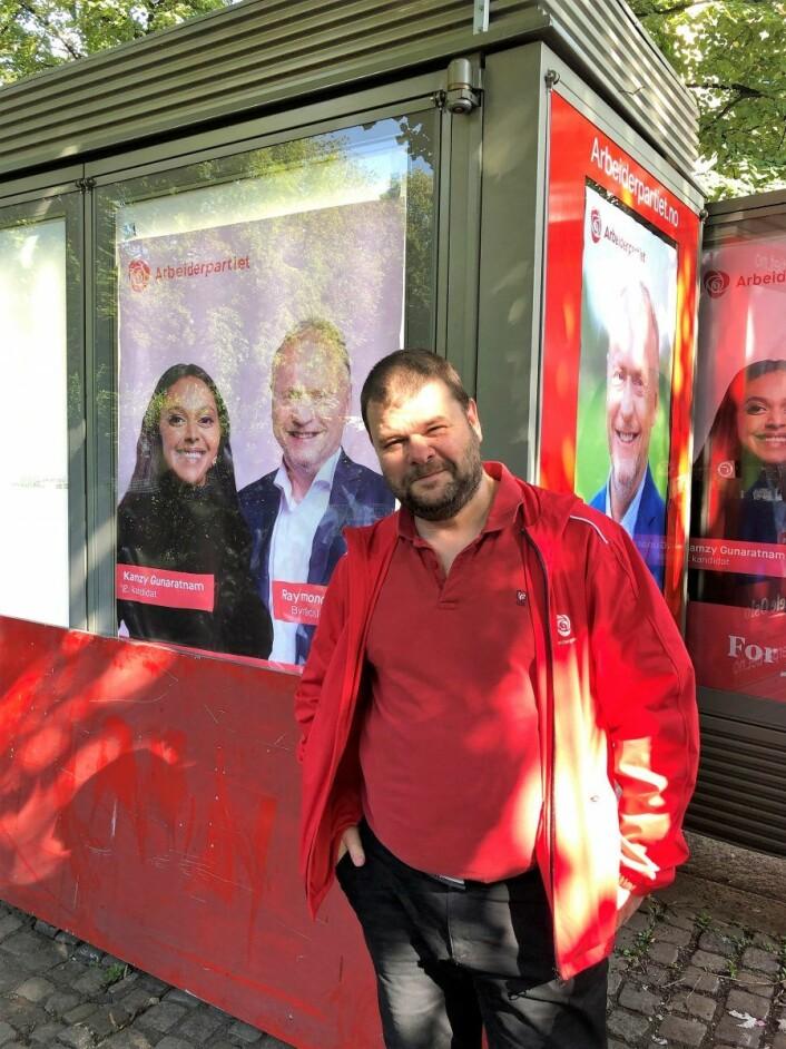 Arbeiderparti-mann Fredrik Mellem mener valgboden viser at partiet er opptatt av gjenbruk. Foto: Hans Bastian Borg