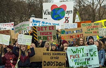 Tusener ventes til klimabrøl foran Stortinget på fredag
