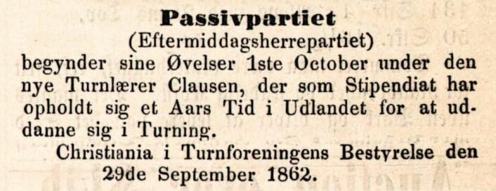 Christiania-Posten, 1862