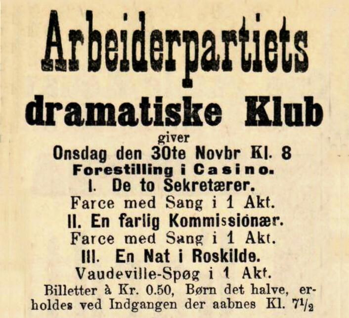Arbeiderpartiet har en lang tradisjon for drama. Social-Demokraten, 1894