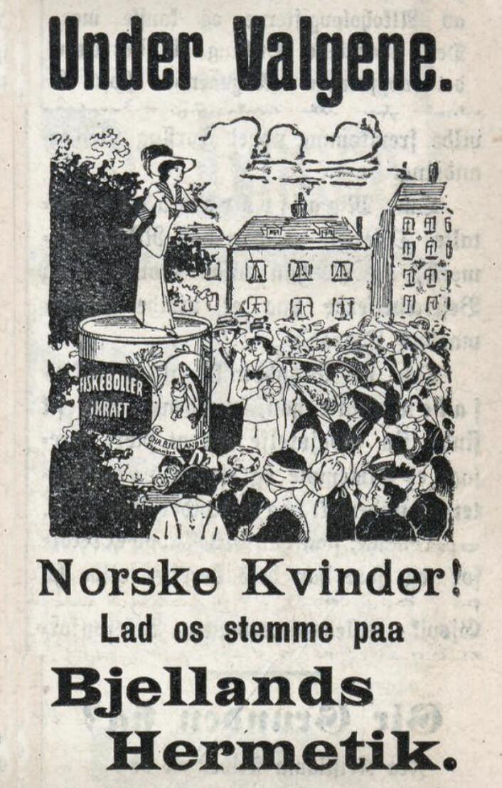 Da kvinnene fikk stemmeretten. Morgenbladet, 1912